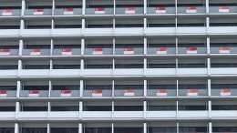 Singapore flag display
