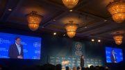 Parti Keadilan Rakyat (PKR) president and Malaysia's former Deputy Prime Minister Anwar Ibrahim speaks at the Milken Institute Asia Summit in Singapore on 19 September 2019. Credit: Michael Switow