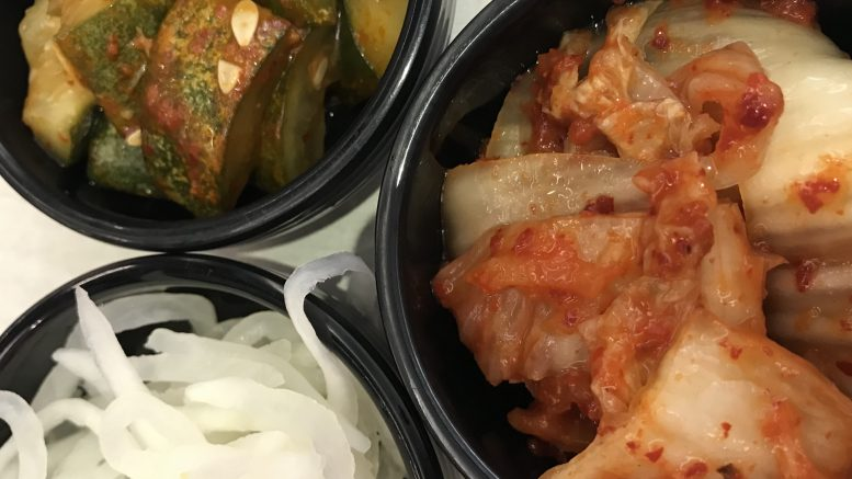 Korean picked vegetables, including kimchi