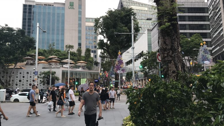UOL building and Orchard Gateway at Orchard Road