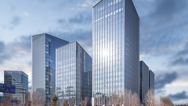 The Ronsin Technology Center, located in Beijing. Allianz Real Estate and Alpha Investment Partners, part of Keppel Capital, entered a deal in October 2019 to acquire an 85 percent stake in the property. Credit: Allianz