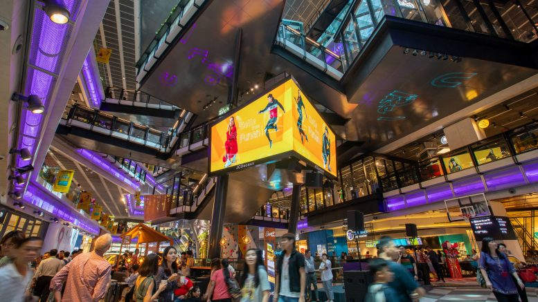 The interior of CapitaLand and CapitaLand Mall Trust's Funan mall in Singapore, which reopened in June 2019 after a three-year redevelopment. Credit: CapitaLand Mall Trust