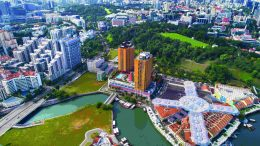 The Liang Court site in Clarke Quay. Credit: CapitaLand and City Developments