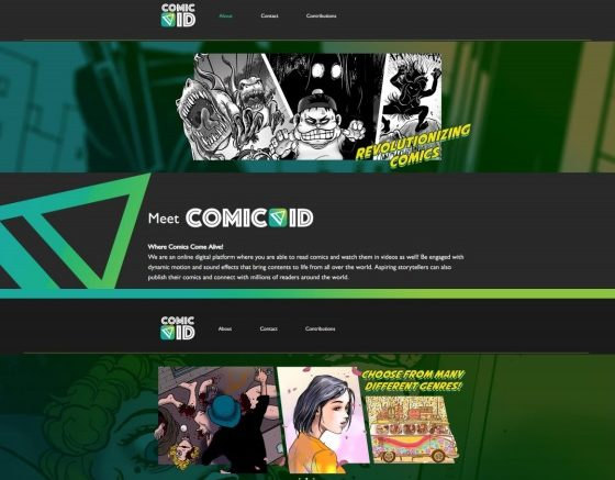 Promotional material from Vividthree's planned launch of ComicVid. Credit: Vividthree