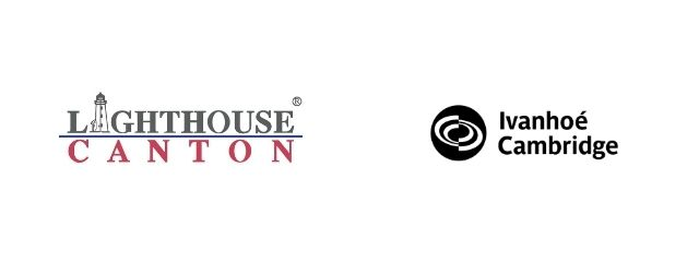 Lighthouse Canton and Ivanhoe Cambridge logos