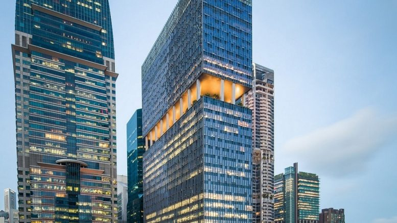 CLI's portfolio of assets include new economy assets in its core markets of Singapore, China and India, such as Grade A office developments Capital Tower and 79 Robinson Road (pictured). Credit: CapitaLand