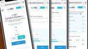 WebMD symptom checker on mobile phones. Credit: WebMD
