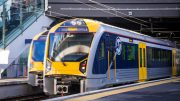 Trains at the Britomart Station in Auckland, New Zealand. Credit: ComfortDelGro