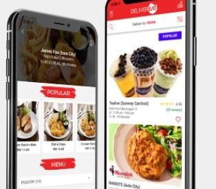 Delivereat's food-delivery app. Credit: Delivereat's website
