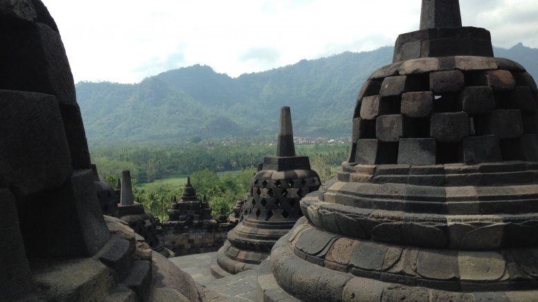 Temples at Yogyakarta, Indonesia; taken September 2015