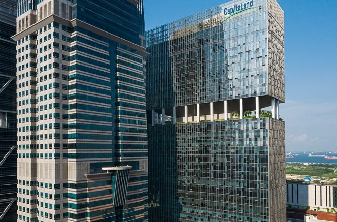Capital Tower and 79 Robinson Road in Singapore's Central Business District (CBD). Photo credit: Rendy Aryanto/WS. sg; CapitaLand