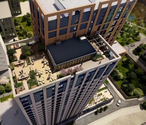 An artist's concept of CDL Hospitality Trusts' planned build-to-rent property, to be called The Castings, in Manchester, U.K. Credit: CDL Hospitality Trusts